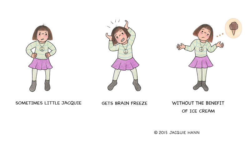 Little Jacquie on Brain Freeze by Jacquie Hann