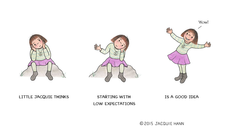 Little Jacquie on Expectations by Jacquie Hann