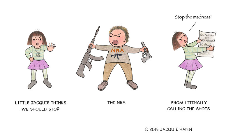 Little Jacquie on the NRA by Jacquie Hann