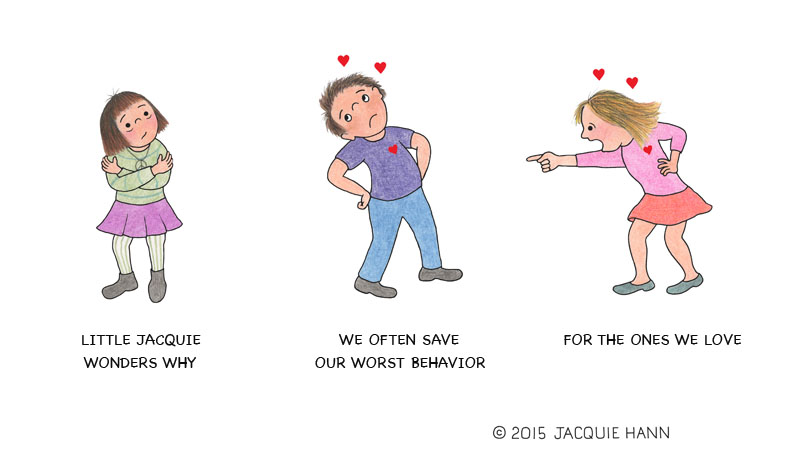 Little Jacquie on Behavior by Jacquie Hann