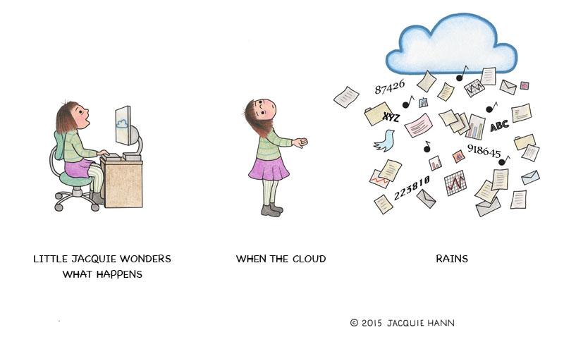 Little Jacquie on the Cloud by Jacquie Hann